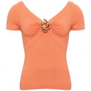 Roberto Cavalli Orange Shirt
