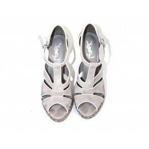 Yves Saint Laurent Grey Sandals