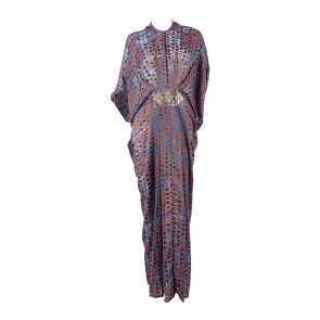 Febianihermaini Multi Colour Polka Dot Caftan Long Dress