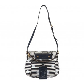 Marc By Marc Jacobs Dark Blue And Cream Sling Bag