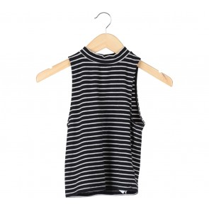 Forever 21 Black And White Striped Sleeveless
