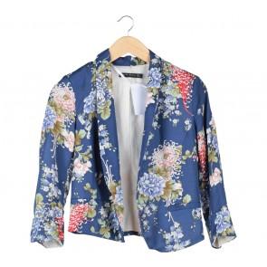 Zara Blue Floral Blazer