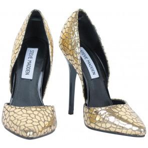 Steve Madden Gold Snakeskin Heels