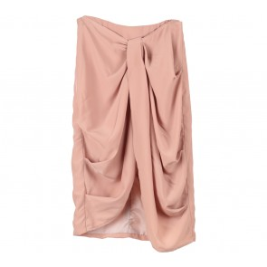 Cloth Inc Pink Drape Skirt