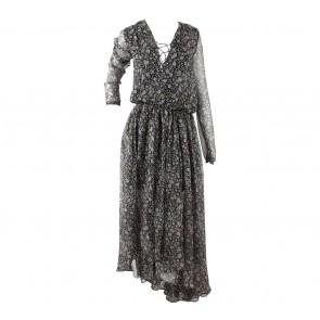 Magali Pascal Multi Colour Floral Asymmetric Midi Dress