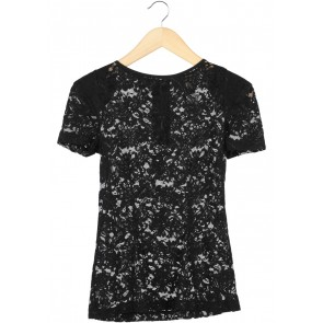 Mango Black Lace Blouse