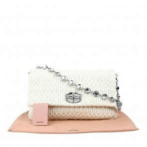 Miu Miu White Shoulder Bag