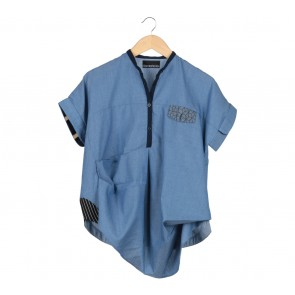 Oline Workrobe Blue Blouse