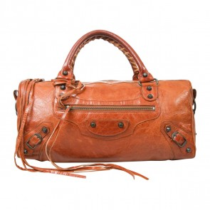 Balenciaga Orange Tote Bag