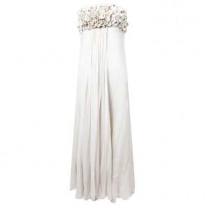Biyan Off White Midi Dress