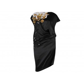 Dries Van Noten Black Midi Dress