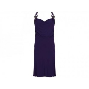 Emporio Armani Purple Midi Dress