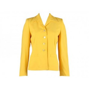 Escada by Margaretha Ley Yellow Blazer