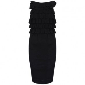 Giambattista Valli Black Midi Dress