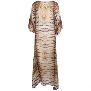 Roberto Cavalli Brown Midi Dress