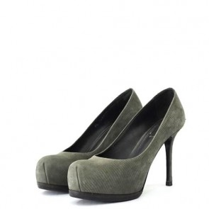 YSL Grey Heels