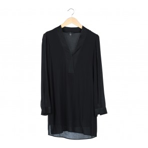 Mango Black Tunic Blouse