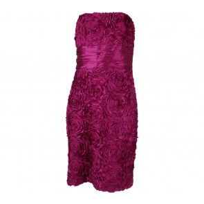 Badgley Mischka Purple Tube Mini Dress