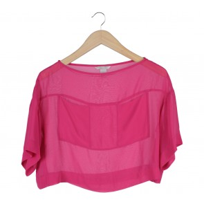 H&M Pink Loose Cropped Blouse