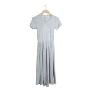H&M Grey Back Cut Out Midi Dress
