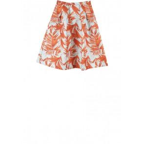 H&M Light Blue And Orange Leaf Skirt