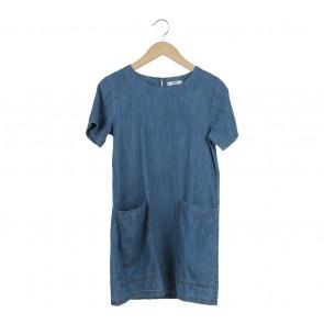 Mango Blue Mini Dress