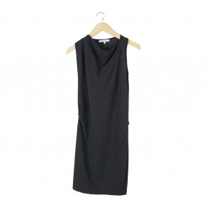 Max Mara Dark Grey Sleeveless Mini Dress