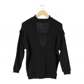 Zara Black Back Cut Out Sweater