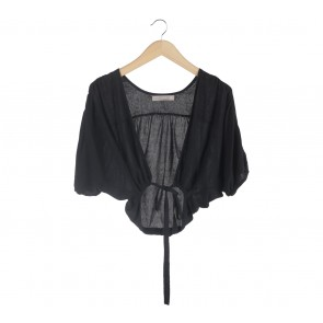 Zara Black Cropped Cardigan