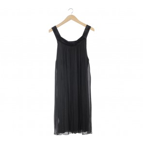 Zara Black Sleeveless Midi Dress
