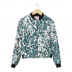 Zara Green Patterned Jaket