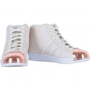 Adidas Cream Superstar Up Metal Toe Sneakers