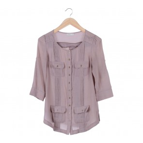 N.Y.L.A Brown Multi Pocket Pleats Blouse