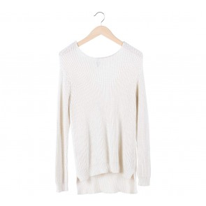 Divided Cream Long Knit Sweater