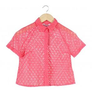 Dorothy Perkins Pink Lace Shirt