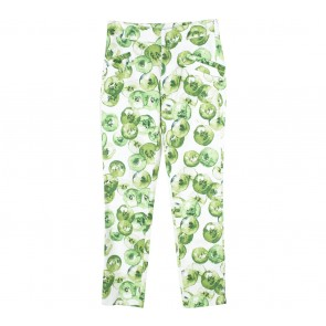 Zara White And Green Paterterned Pants