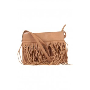 Atmosphere Brown Fringe Sling Bag