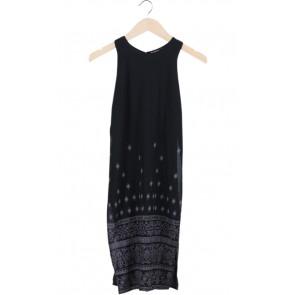 Black Tribal Slit Mini Dress