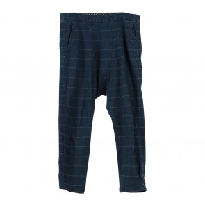 Pull & Bear Dark Blue Plaid Pants