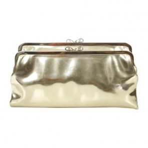 Anya Hindmarch Gold Clutch