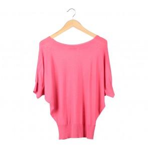 Elle Pink Batwing Blouse
