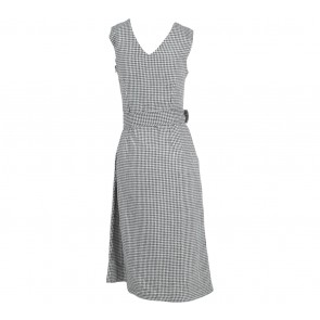MDS Black And White Houndstooth Sleeveless Midi Dress