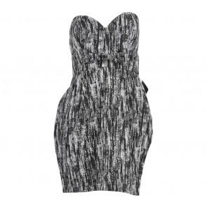 Nasty Gal Black And White Tube Mini Dress