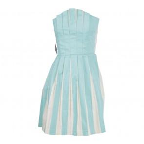 Nasty Gal Blue And Cream Tube Mini Dress