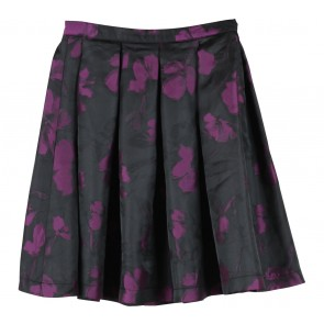Esme Gallery Black And Purple Floral Skirt