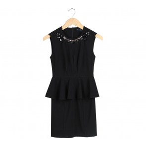 N.Y.L.A Black Peplum Sleeveless Mini Dress