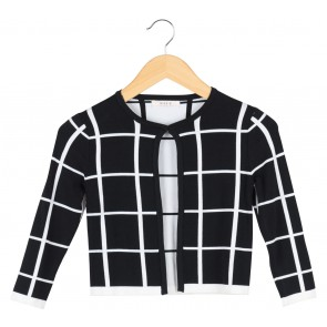 Nikkie Black Plaid Cardigan