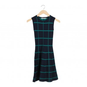 Nikkie Blue And Green Plaid Mini Dress