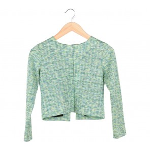 Perpetuum Basic Green Cropped Blazer