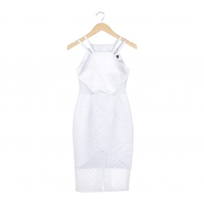 Theresa Debby White Cut Out Sleeveless Midi Dress